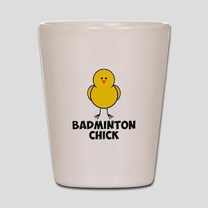 Badminton Chick Shot Glass