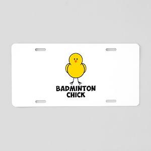 Badminton Chick Aluminum License Plate