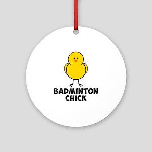 Badminton Chick Ornament (Round)