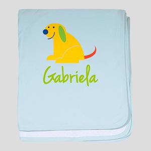 Gabriela Loves Puppies baby blanket