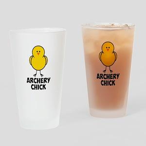 Archery Chick Drinking Glass