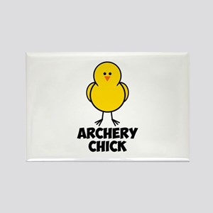 Archery Chick Rectangle Magnet