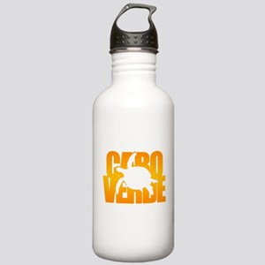 Cape Verde Turtle Orange Stainless Water Bottle 1.