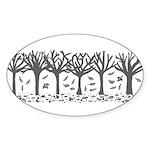 Autumn Sticker (Oval 50 pk)
