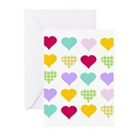Rainbow Hearts Pattern Greeting Cards (Pk of 10)