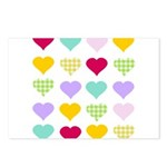 Rainbow Hearts Pattern Postcards (Package of 8)