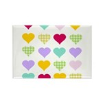 Rainbow Hearts Pattern Rectangle Magnet (10 pack)