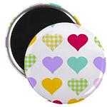 Rainbow Hearts Pattern Magnet