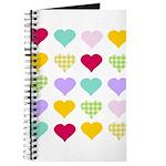 Rainbow Hearts Pattern Journal