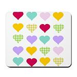 Rainbow Hearts Pattern Mousepad