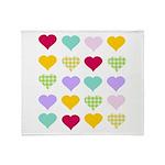 Rainbow Hearts Pattern Throw Blanket