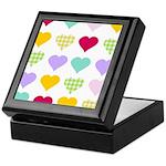 Rainbow Hearts Pattern Keepsake Box