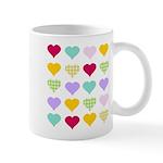 Rainbow Hearts Pattern Mug