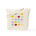 Rainbow Hearts Pattern Tote Bag