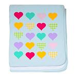 Rainbow Hearts Pattern baby blanket