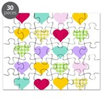 Rainbow Hearts Pattern Puzzle