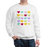 Rainbow Hearts Pattern Sweatshirt