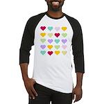 Rainbow Hearts Pattern Baseball Jersey