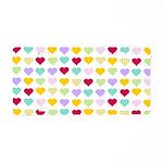 Rainbow Hearts Pattern Aluminum License Plate