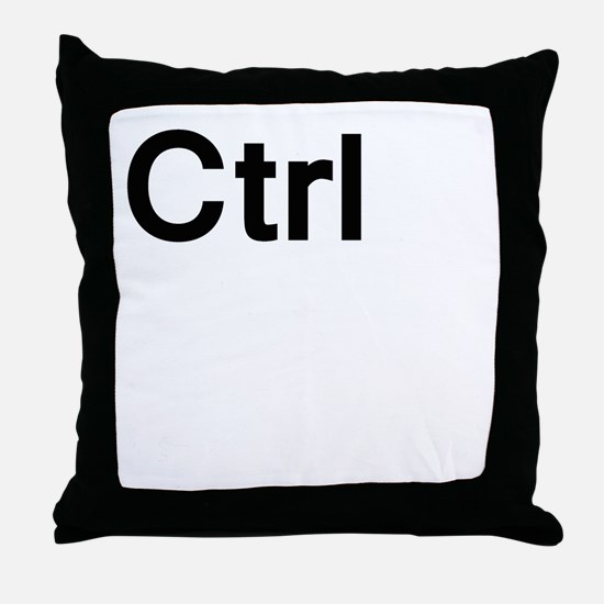ctrl (control) Throw Pillow