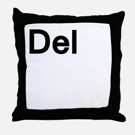 del (delete) Throw Pillow