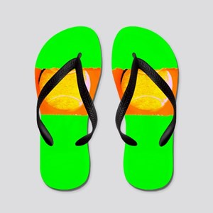 Tennis Ball Green Designer Shoes Zori Flip Flops