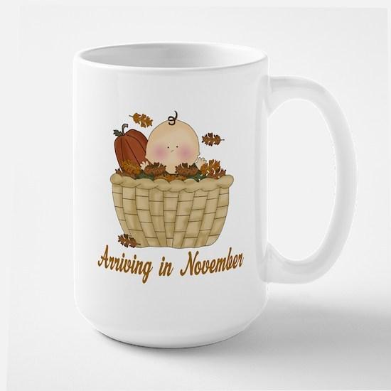 Baby Arriving In November Mugs