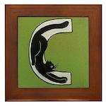 C is for Cat Framed Tile