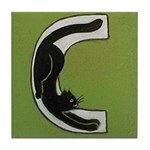 C is for Cat Tile Coaster