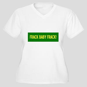 Frack Baby Frack Women's Plus Size V-Neck T-Shirt