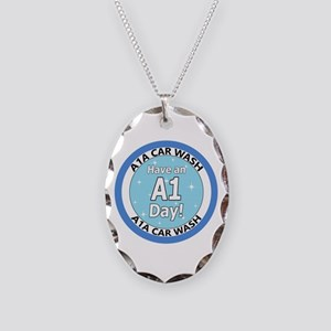 'Have an A1 Day!' Necklace Oval Charm