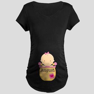 August Baby Maternity Dark T-Shirt
