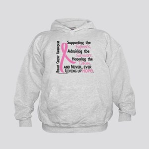 SupportAdmireHonor10 Breast Cancer Kids Hoodie
