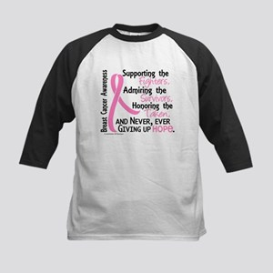 SupportAdmireHonor10 Breast Cancer Kids Baseball J