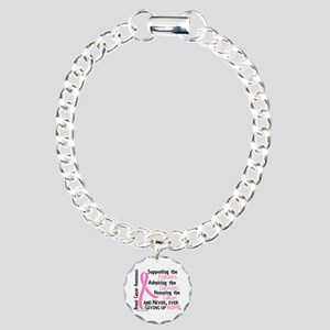 SupportAdmireHonor10 Breast Cancer Charm Bracelet,