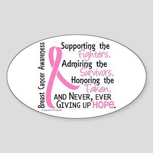 SupportAdmireHonor10 Breast Cancer Sticker (Oval 1
