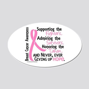 SupportAdmireHonor10 Breast Cancer 22x14 Oval Wall