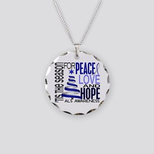 Christmas 1 ALS Necklace Circle Charm
