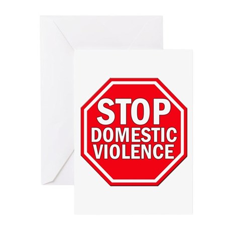 STOP Domestic Violence Greeting Cards (Package of