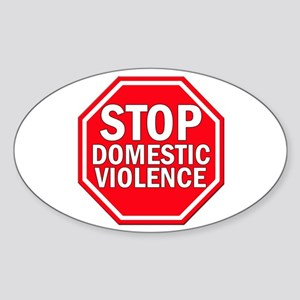 STOP Domestic Violence Oval Sticker
