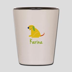 Karina Loves Puppies Shot Glass