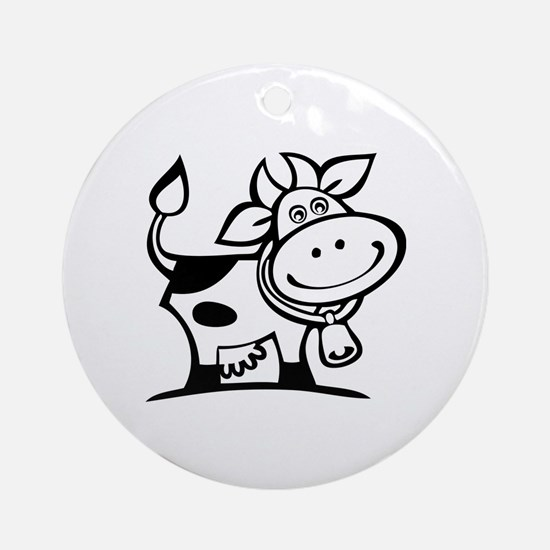 Cow Ornament (Round)