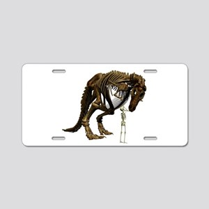 Dino Snack Aluminum License Plate