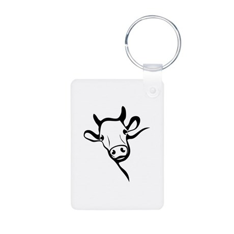 Cow Aluminum Photo Keychain