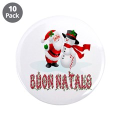 """Buon natale 3.5"""" Button (10 pack)"""