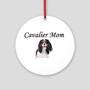 Cavalier Mom-Light Colors Ornament (Round)