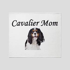Cavalier Mom-Light Colors Throw Blanket