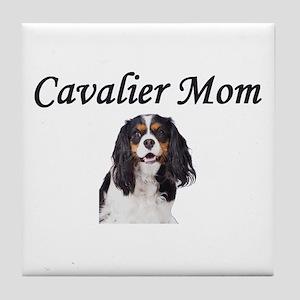 Cavalier Mom-Light Colors Tile Coaster