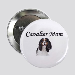 "Cavalier Mom-Light Colors 2.25"" Button"