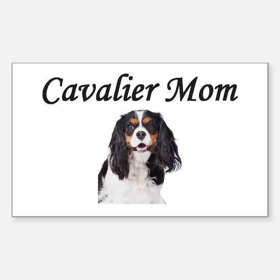 Cavalier Mom-Light Colors Sticker (Rectangle)